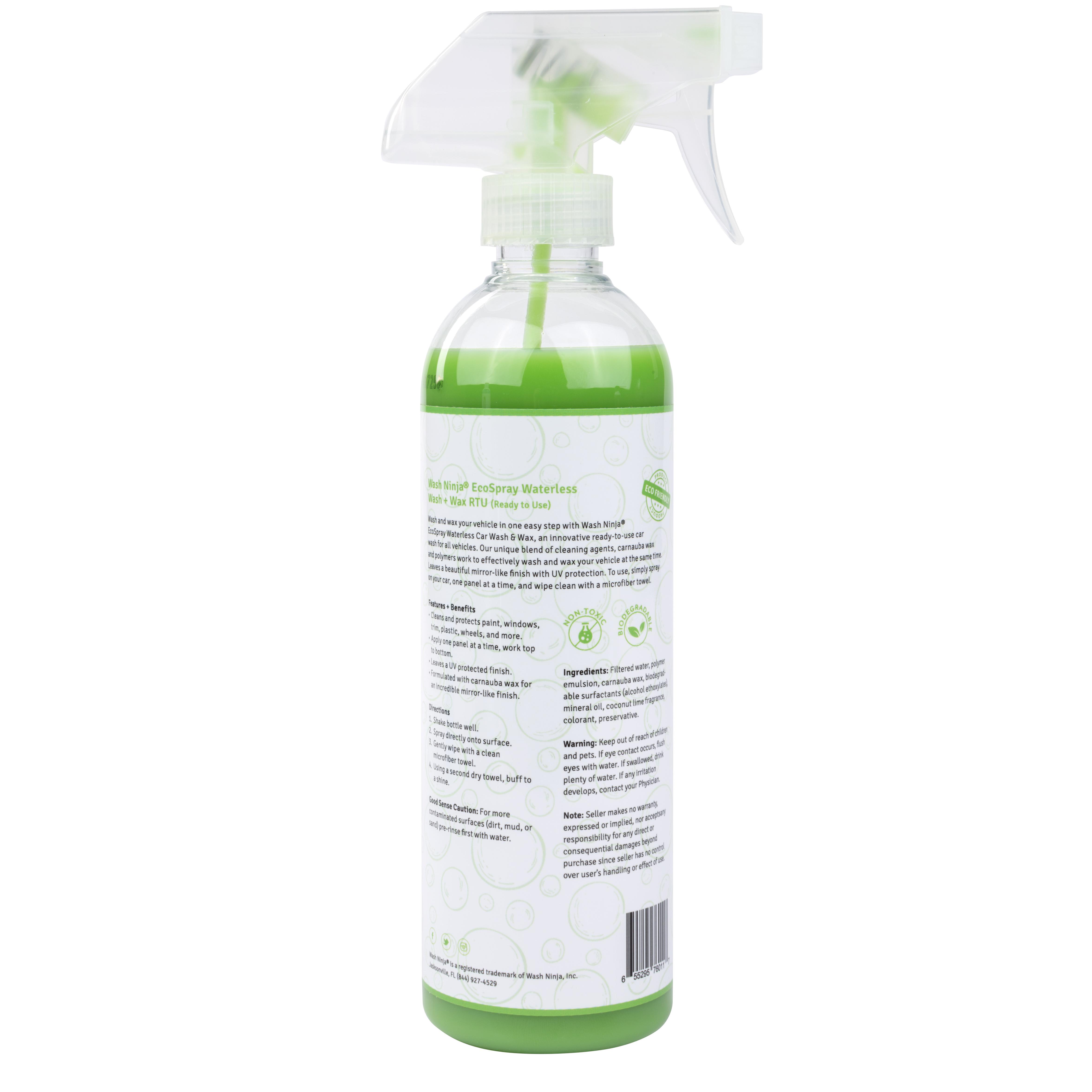 Ceramic Car Wax >> EcoSpray Waterless Car Wash and Wax RTU | Wash Ninja