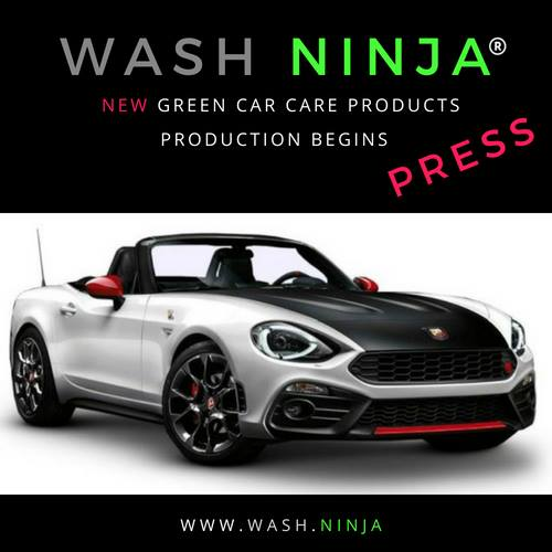 Wash Ninja New Eco Friendly Car Care Products Enter Manufacturing